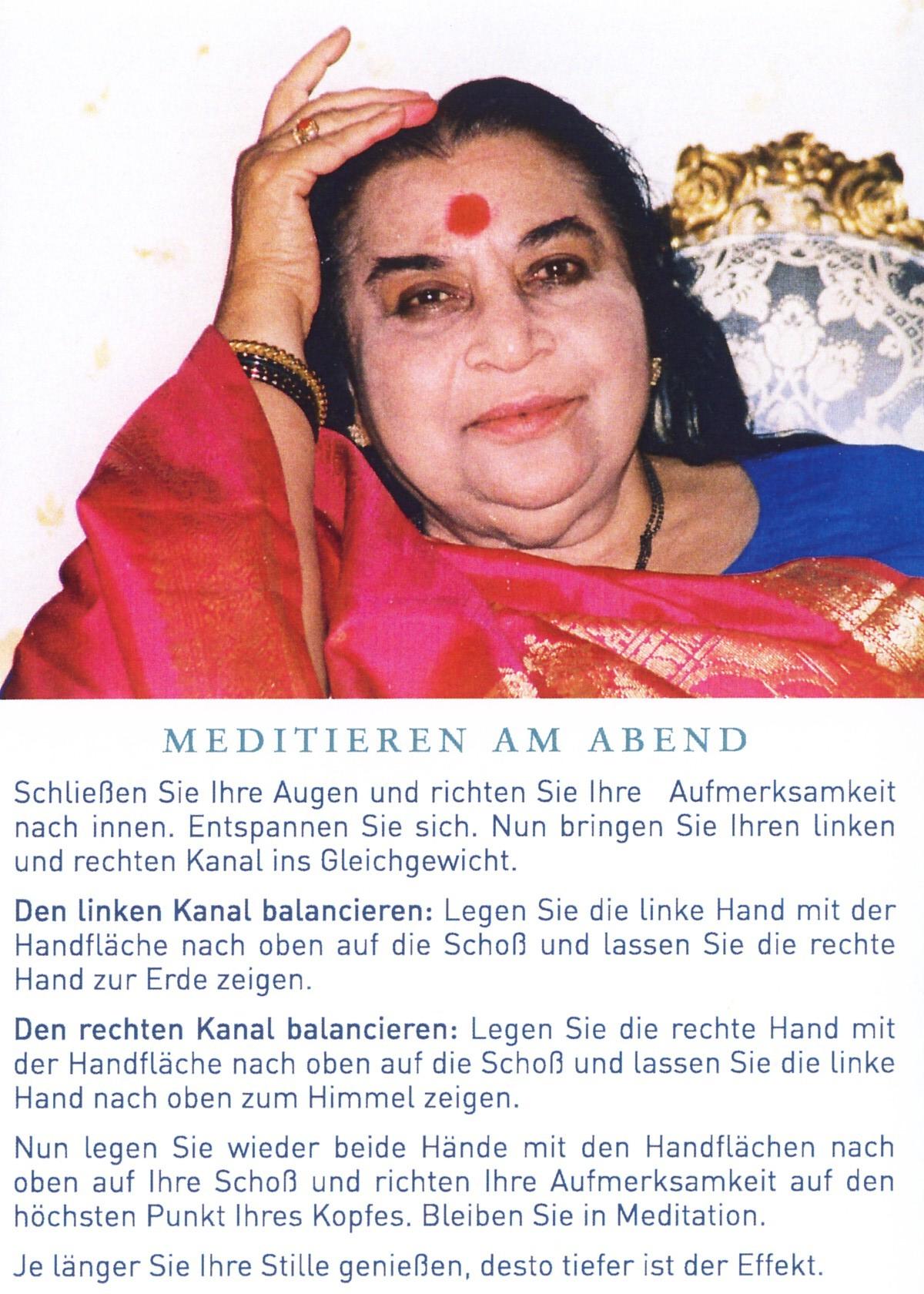 meditieren am abend